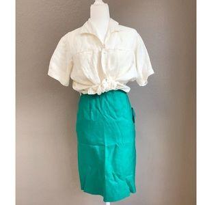 VTG FLORA pencil skirt